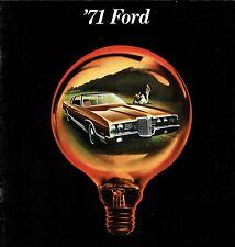 1971 Ford LTD Brougham Galaxie 500 Custom 500 Wagons FS Sales Brochure