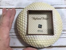 """Highland Ridge Golf Ball Picture Frame Russ New Holds 3"""" x 3"""" Photo"""