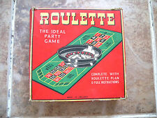 "Vintage ""Roulette"" Party Game Boxed With Instructions Etc by Chad Valley"
