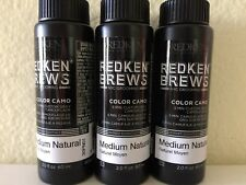 3 bottles REDKEN FOR MEN 5 minute color camo custom gray protein and quinoa oil