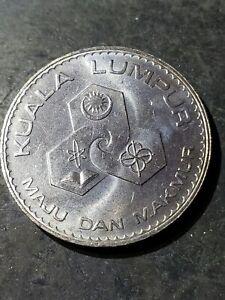 1972 MALAYSIA  $1 RINGGIT KUALA LUMPUR ANNIVERSARY COIN BU