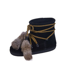 RRP €920 DSQUARED2 Leather Snow Winter Boots Size 41-43 UK 8-10 US 11-13