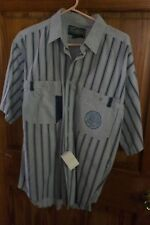 Weekends  Men's Small  Striped Collar Button Down Short Sleeve Pockets Shirt NWT