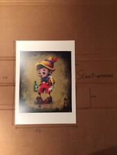 PRINT PINOCCHIO DRAN ART 44X32  STAMPED LIMITED EDITION PARIS POP UP KAWS BANKSY