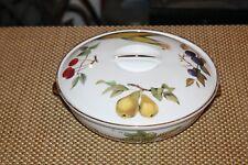 Royal Worcester England Lidded Serving Dish Evesham Pears Cherries Corn Plums
