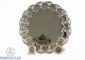 Large mirror circle Mirror Moroccan vintage mirror wall decor Metal Mirror brass