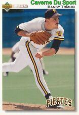 537 RANDY TOMLIN PITTSBURGH PIRATES BASEBALL CARD UPPER DECK 1992