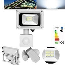 10W IP65 PIR Motion Sensor LED Flood Light Cool White Lamp Outdoor Floodlight