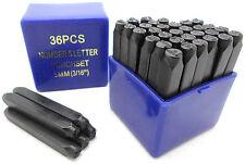 "36pc 5MM 3/16"" Shaft Letter & Number Stamping Set Hardened Metal Stamp Die NEW"