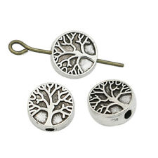 15PCS Antique Silver Tree of Life Spacer Beads Jewelry Accessories Findings DIY