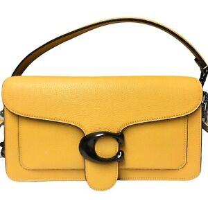 COACH 73995 TABBY LEATHER SHOULDER BAG 26 Crossbody HONEYCOMB (yellow) NWT $395