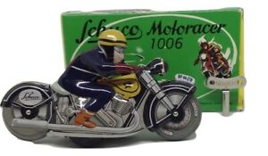 Schuco model 1006 rope motorbike in its box
