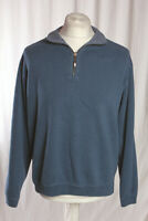Tommy Bahama Flip-shore Blue Reversible 1/2 Zip Neck Jumper Men's Large VGC!