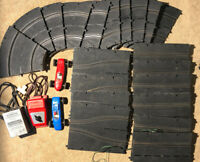 Vintage Set of Carrera 20 Piece Track with 2 Cars, DC Power Pack, Speed Control