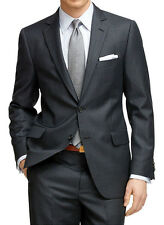 Mens Pinstripe Suit Custom Made,Charcoal Grey Men Striped Suit,Tailored Men Suit