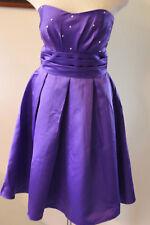 Star Box purple satin wedding bridesmaids cocktail dress S