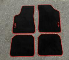 Fit For Compatible with Golf MK2 GTI Floor Mat Carpet Red Trim 1983-92 Set of4