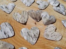 10/50/100 Rustic Wedding Silver Birch Bark Hearts Favours Table Confetti craft