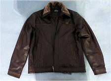 NWT, Emporio & Co. Men's Brown Fashion Jacket with Faux Fur Collar