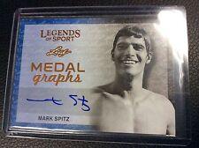 2015 Leaf Legends of Sport Mark Spitz Medal Graphs auto Autograph