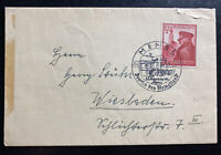 1943 Memel Germany First Day Cover To Wiesbaden Leader Birthday #B137
