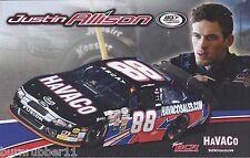 "2014 JUSTIN ALLISON ""HAVACO"" #88 2ND VERSION NON NASCAR ARCA 5 X 8 POSTCARD"