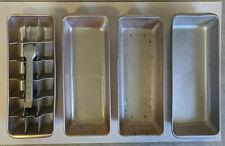 4 Vintage Retro Philco 18 Cube Ice Trays Kitchen Metal Ice Cube Tray
