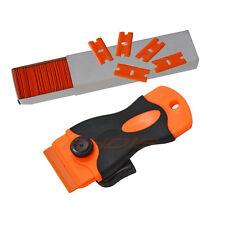 Safe Sticker Removal Tool 100 x Plastic Double Edged Razor Blades & Scraper USA