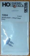 Detail Associates HO #1004 Headlight- 'Pyle' Dual, Early