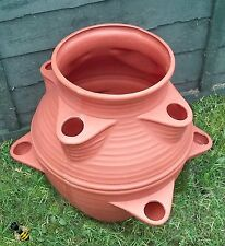 Large Garden Strawberry Planter Flower Pot Patio Tub Terracotta colour