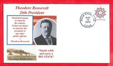 FDC Patriotic stamp of Aug.10,2010, Quote by Theodore Roosevelt still true today