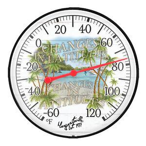 """104-1512MV La Crosse 5"""" Margaritaville Indoor/Outdoor Dial Bracket Thermometer"""