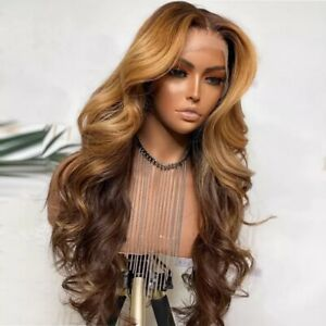 8A 180% Density Unprocessed Brazillian Ombre Brown/honeyblonde Human Hair Wig