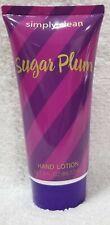 Simply Clean SUGAR PLUM Hand Lotion Skin Soft Rejuvenated Tube 3 oz/88.72mL New