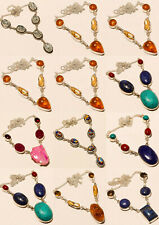 10pcs Wholesale Lot Free Shipping Silver Overlay Gemstone Necklace Jewelry
