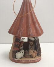 Mushroom Nativity Scene Manger Christmas Holiday Ornament South America Handmade