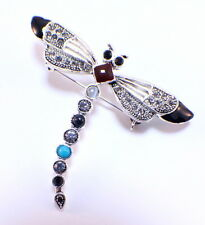 Dragonfly Insect Rhinestone Pin Brooch Broach