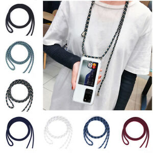 Lanyard Crossbody Phone Case Clear Soft TPU Cover Card Holder for iPhone Samsung