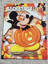 Disneyland Backstage Pass Passholder Magazine Fall 2007 Halloweentime