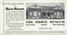 THE MORSE MUSEUM ,MAIN STREET,WARREN,NEW HAMPSHIRE,ADMISSION FREE