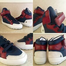 9516158c9bd5  575 SZ 36 IT 6 US ISABEL MARANT BESSY HIP HOP BLUE RED LEATHER SUEDE  SNEAKERS
