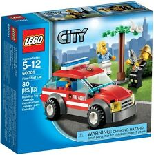 Lego City Town 60001 FIRE CHIEF CAR Kitten Gold Helmet Xmas Gift Present NISB