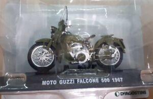 1:24 Echelle Modèle Moulé Moto Guzzi Falcone 500 1967 Moto Deagostini