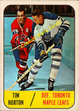 Custom made OPC  1967-68 Toronto Maple Leafs  Tim Horton hockey card white