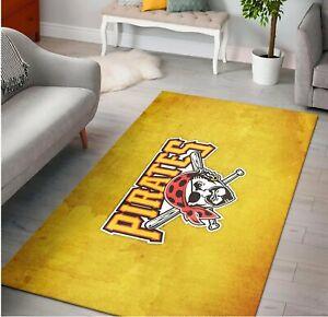 Pittsburgh pirates baseball mlb gq rug area rug floor decor