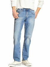 5544-2 Banana Republic Mens Light Blue Wash Athletic Fit Relaxed Jeans 32W x 30L