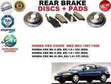 für Honda CRX MK2 /3 Coupe Targa 87-98 Bremsscheiben SET HINTEN+BREMSBELÄGE