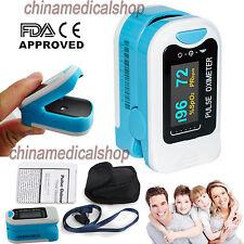 CE OLED Finger Tip Pulse Oximeter SPO2 PR Blood Oxygen Heart Rate Monitor+ Pouch