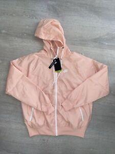 Nike Windrunner Sportswear Jacket DA0001-80 Arctic Orange/White/Peach Men Small