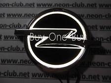 5D Reflective LED LOGO Emblem Rear Badge Decal Sticker Lights For Opel White 12V